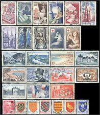 FRANCE Lot de 29 Timbres/stamps 1954  Oblitéré/Used