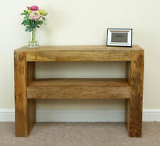 Solid Wood Modern Console Tables without Assembly Required