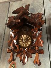 New Anton Schneider Black Forest Cuckoo Clock BEAUTIFUL CARVING  New in BoX