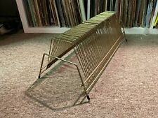 Metal Wire Record Rack Stand Holder 60 Slots for LPs & 45s Vintage Antique
