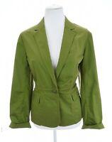 Talbots Sz 10 Medium Green Stretch Cotton Blazer Jacket Christmas Womens Pockets