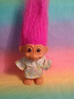 Vintage Russ Troll Doll Hot Pink Hair Dressed