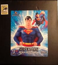 SDCC 2013 DC Superman Resin Bust Bank MINT