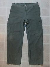 Dirty DICKIES Ripstop Fabric PANTS 36x32 Cargo Pockets Army Green Work Wear Punk