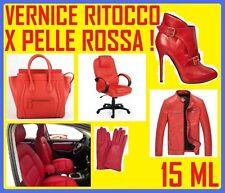 VERNICE ROSSA COLORE ROSSO RITOCCO PER SEDILI IN PELLE FIAT MERCEDES ALFA ROMEO