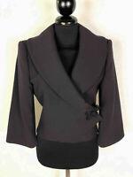 Emporio Armani Women's Jacket Wool Elegant Party Woman Jacket Blazer SZ.S - 40