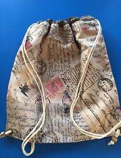 John Lewis Fabric PE Bag /storage Bag -Handmade Vintage Stamps Fully Lined - New