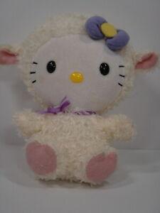 """Ty Hello Kitty Sanrio Plush Lamb Toy 6"""" Tall"""
