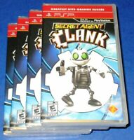 Lot of 4 Secret Agent Clank Sony PSP *New! *Factory Sealed! *Free Shipping!