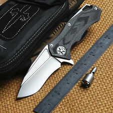 B008085StarLord DAIDO D2Blade Carbon Fiber Handle KVT Ball BearingTactical Knife