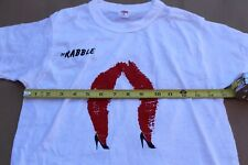 Vintage The Rabble Leps & Other New Words Lips Legs White T-Shirt 16 Album Promo