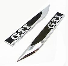 Set of 2 Volkswagen VW GTI Sticker Black Car Emblem Badge Decal logo Fender Side