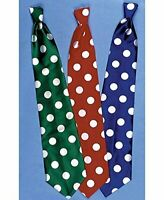 CLOWN'S LONG TIE-RED W/s WHITE