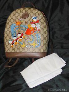Disney DONALD DUCK Backpack Book Bag L@@K