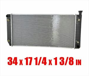 Radiator For 94-99 Suburban 5.7L 34 Inch Wide Core W/ Engine Oil Cooler
