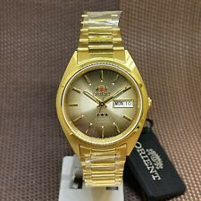 Orient 3 Star FAB00004U9 Automatic Gold Tone Stainless Steel Analog Men's Watch