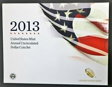 2013 US Mint Annual Uncirculated Dollar 5 Coin Set Silver Eagle & Presidential $