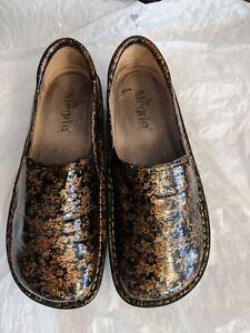 Alegria Deb 352 copper Floral Beauty Professional Nursing Shoe Sz 39,9