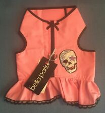 NWT Dog Clothing Harness Vest Glam Rock Skull Sequins by Bella Paris Sz M Medium