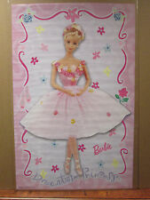 vintage 2001 Barbie Ballerina original Mattel poster girl toy 7334