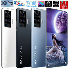 Unlock X60pro 12GB+512GB Android Smartphone 10-Core Face 7.1 inch Mobile Phone