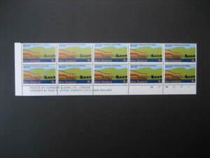 NEW ZEALAND NHM PLATE BLOCK-1973 4c WESTPORT CENTENNIAL N0 1B SG 998