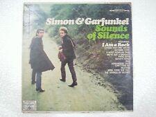 SIMON & GARFUNKEL SOUNDS OF SILENCE RARE INDIA orig CBS dum dum LP RECORD VG