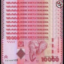 Tanzania - 10.000 Shillings 2015 - Pick- 44b - Set 10 PCS - UNC