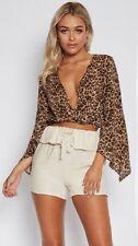 Unbranded Animal Print 3/4 Sleeve Tops & Blouses for Women