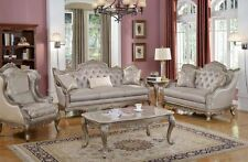 Elegant Traditional Antique Style Sofa & LoveSeat Formal Living Room Furniture