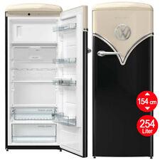 Kühlschrank Retro Nostalgie Gefrierfach schwarz Nostalgie freistehend Stand 154