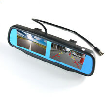 "4.3"" TFT LCD Car Rearview Mirror Monitor 4CH Video In 2pcs Screen Display"