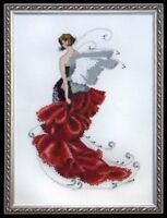 """COMPLETE XSTITCH MATERIALS """"POPPY NC123"""" Pixie Couture Collectio by Nora Corbett"""