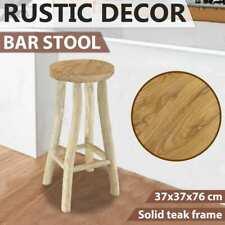 vidaXL Teak Bar Stool Brown Kitchen Dining Living Room Counter Chair Seat