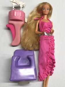 Vintage Barbie Twirly Curls Doll With Twirler  1982 Mattel Super Star Era