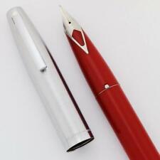 Estilográfica Sheaffer 440-Rojo, Medio Corto Diamante Nuevo en Caja (nuevo viejo stock)
