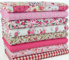 Cuarto gordo Paquete-Patchwork Rosa & Roses-Craft Costura restos de tela