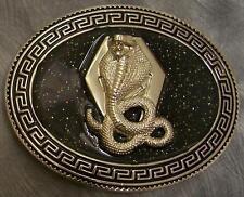 Pewter Belt Buckle Animal Snake King Cobra  NEW