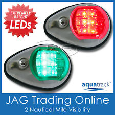 AQUATRACK LED NAVIGATION LIGHTS CHROME HOUSING-Port/Starboard Marine/Boat/Nav PC