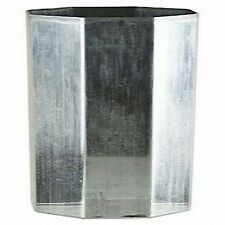OCTAGON Seamless Aluminum Candle Molds 3 inches x 3-1/2 inches (Lot of 4)