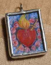 Immaculate Heart of Mary Catholic Holy Medal Charm/Pendant Hand-soldered jewelry
