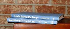 Tutorial Essays in Psychology Vol. 1  & Vol  2 - *2 HB Books -1977 & 1979