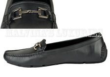 GUCCI SHOES DRIVER LOAFERS BLACK LEATHER HORSEBIT DETAIL 39G 9