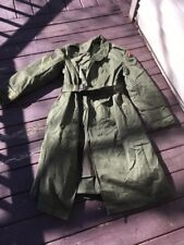 Vintage Military L-7151 Trench Over Coat Seven Steps To Hell 1950 Long/Med Wool