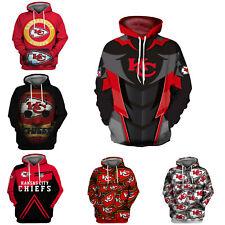 Kansas City Chiefs Hoodie Football Pullover Sweatshirt Hooded Jacket Fan's Gift