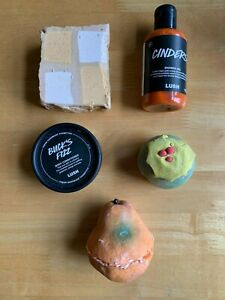 NEW LUSH GOLDEN PEAR SOAP PUDDY HOLLY BUBBLEROON BUCKS FIZZ CINDERS YOG NOG