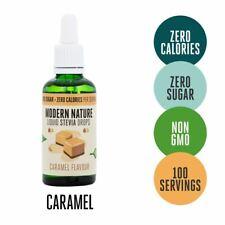 Modern Nature Liquide pur Stevia Gouttes édulcorant 50 ml-CARAMEL