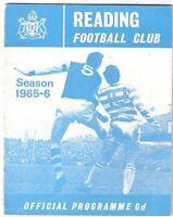 Reading v Southend United 1965/6