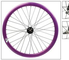 FW668PP Origin8 Track Attack 42mm Wheelset Fixed Loose Ball Purple 700c 32h F&R