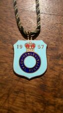 1957 Henley Royal Regatta Enamel Members Badge Stewards / Silver Gold Medal Oars